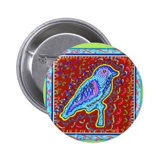 Exotic Birds by Naveen 6 Cm Round Badge