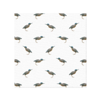 Exotic Birds Motif Pattern Canvas Print
