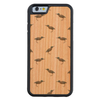 Exotic Birds Motif Pattern Carved Cherry iPhone 6 Bumper Case