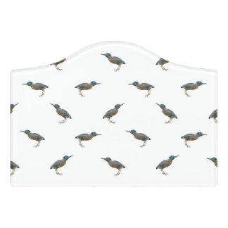 Exotic Birds Motif Pattern Door Sign