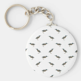 Exotic Birds Motif Pattern Key Ring
