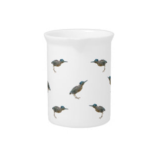 Exotic Birds Motif Pattern Pitcher