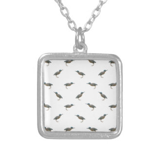Exotic Birds Motif Pattern Silver Plated Necklace