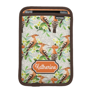 Exotic Birds On Lace | Add Your Name iPad Mini Sleeve