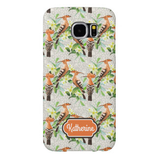 Exotic Birds On Lace | Add Your Name Samsung Galaxy S6 Cases
