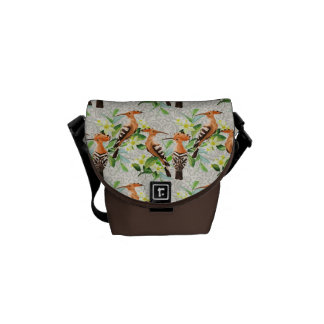 Exotic Birds On Lace Messenger Bag