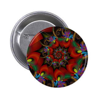 Exotic Blooms Button