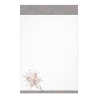 Exotic Blossom Customized Stationery