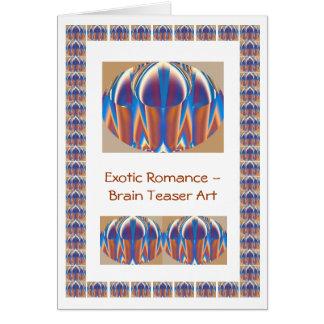 Exotic Brain Teaser Art Greeting Card