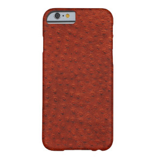 Exotic Brown Ostrich Leather iPhone 6 Case