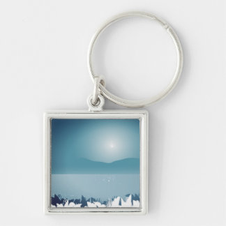Exotic button keychain : blue Collection