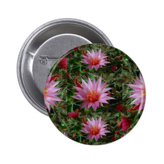 EXOTIC Cactus Flower : Greet Thank n Welcome 6 Cm Round Badge