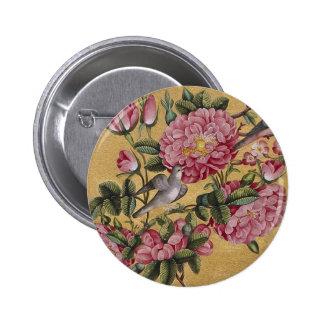 Exotic Camellias 6 Cm Round Badge