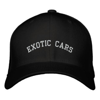 Exotic Cars Embroidered Hat