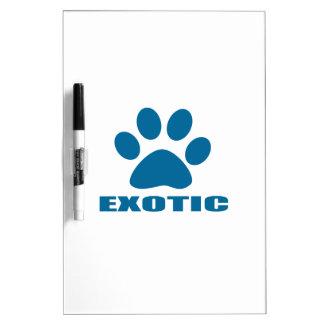 EXOTIC CAT DESIGNS DRY ERASE BOARD