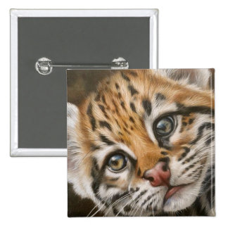 Exotic Cat Square Button