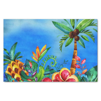 Exotic Colorful Flower Jungle - Aloha Tissue Paper