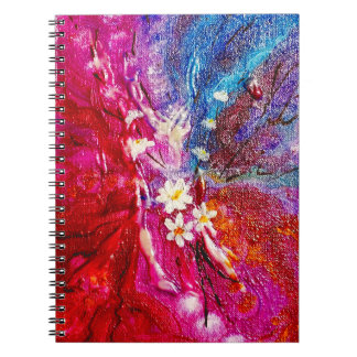 Exotic colorful flowers abstract composition notebook