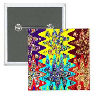 EXOTIC Colorful Geometrical Graphic GIFTS for ALL 15 Cm Square Badge