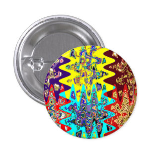 EXOTIC Colorful Geometrical Graphic GIFTS for ALL 3 Cm Round Badge