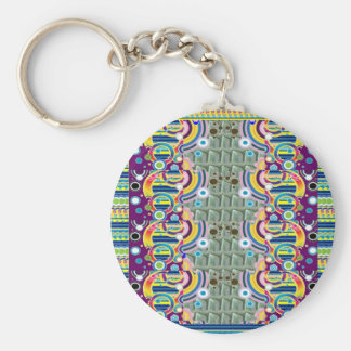 EXOTIC Colorful Geometrical Graphic GIFTS for ALL Key Chains
