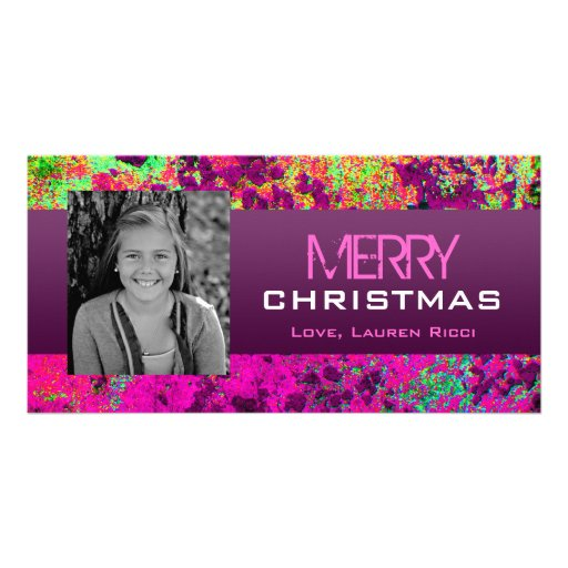 Exotic Colors Photo Card Template