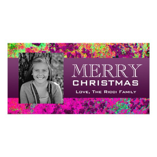 Exotic Colors Personalized Photo Card