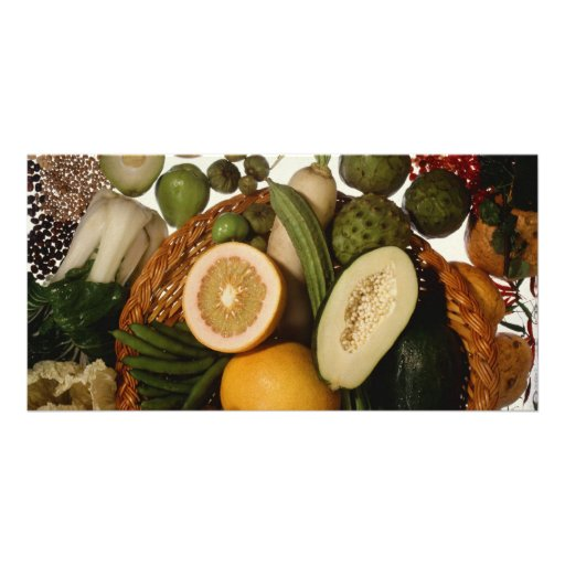 Exotic crops photo greeting card