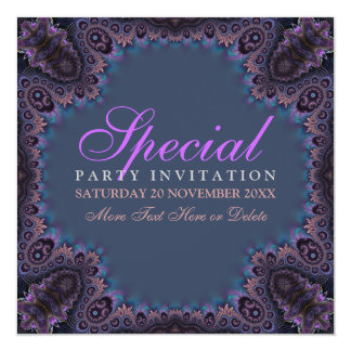 Exotic Dark Gothic Goddess Party  Invitation