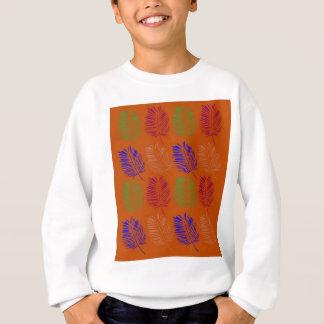 Exotic design leaves eco brown sweatshirt