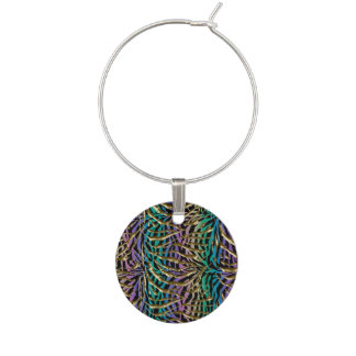 Exotic Fantasy Animal Print Wine Charm