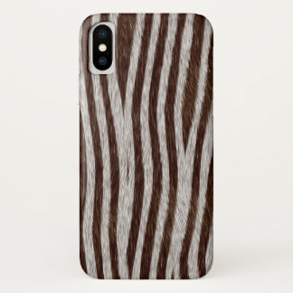 Exotic Faux Fur Zebra Stripes Animal Print iPhone X Case