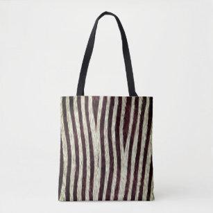 7b067a00aec4 Exotic Faux Fur Zebra Stripes Animal Print Tote Bag
