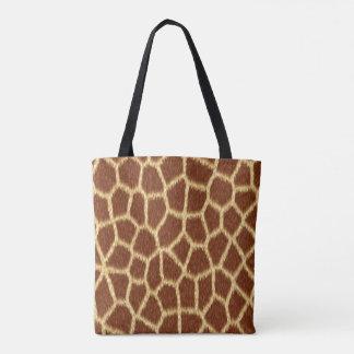 Exotic Faux Giraffe Print Animal Fur Pattern Tote Bag