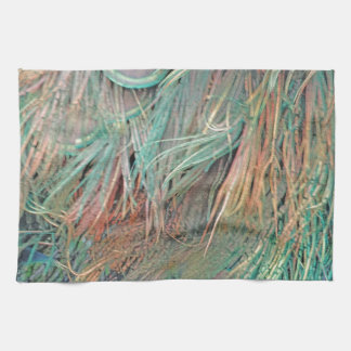 exotic feathers kitchen towel
