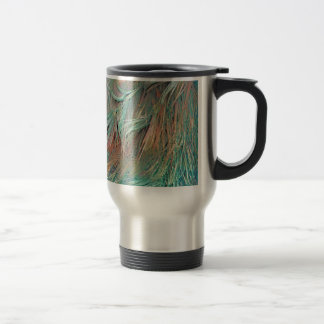exotic feathers travel mug