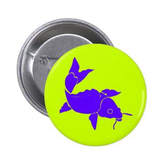 Exotic Fish Blue 6 Cm Round Badge