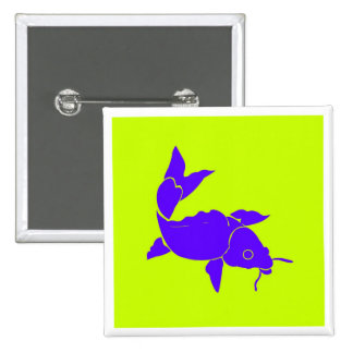 Exotic Fish Blue 15 Cm Square Badge