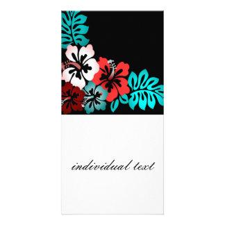 Exotic Floral Design Custom Photo Card