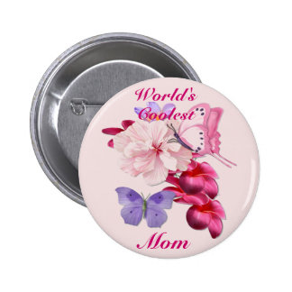 Exotic Floral for Mom 6 Cm Round Badge