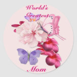 Exotic Floral for Mum Round Stickers