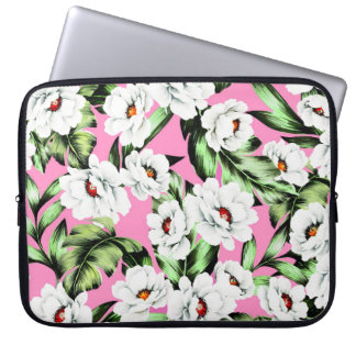 Exotic Flower Floral Pattern Laptop Sleeve