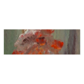 Exotic Flower Impressionist Abstract Floral Pack Of Skinny Business Cards