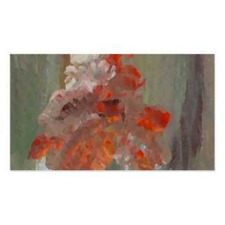 Exotic Flower Impressionist Abstract Floral Business Cards
