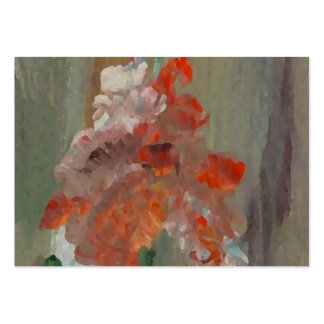 Exotic Flower Impressionist Abstract Floral Business Card Template