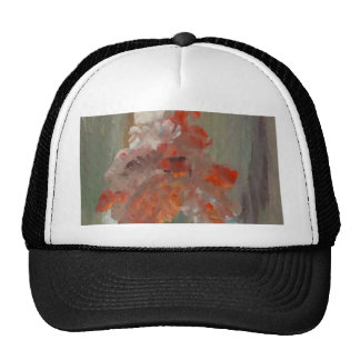 Exotic Flower Impressionist Abstract Floral Cap