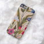 Exotic Flowers With Insects Floral Vintage Art Barely There iPhone 6 Case