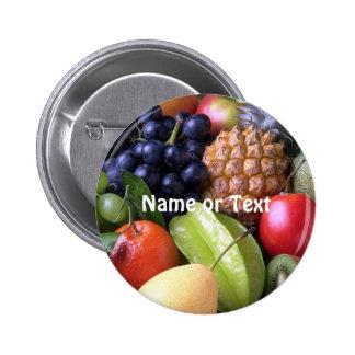 exotic fruits 6 cm round badge
