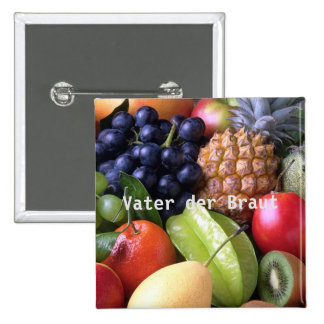 exotic fruits 15 cm square badge