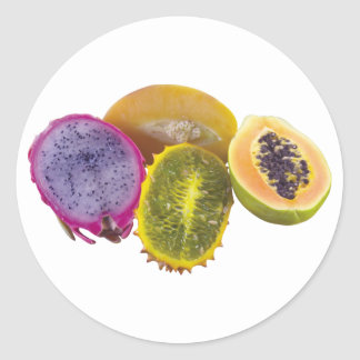 Exotic Fruits Classic Round Sticker